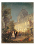 Evening Party at the Tuileries, 10th June 1867 Giclee Print by Pierre Tetar Van Elven