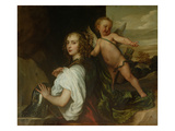 A Lady as Erminia, Attended by Cupid, C.1638 Giclée-Druck von Sir Anthony Van Dyck