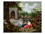 Vertumnus and Pomona (Oil on Canvas) Giclée-Druck von Hendrik van the Elder Balen