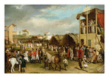 An Extensive View of the Oxford Races Giclee Print by Charles Turner