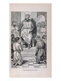 Charlemagne (742-814) and the Boys Giclee Print by Lady M. Chalcott