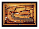 Box of Obstetric Instruments (Wood and Metal) Giclee Print by  Italian