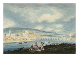 Rochester, from the North, C.1790 (W/C over Pencil with Wash on Paper) Giclee Print by Thomas Girtin