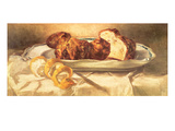 Still Life with Brioches and Lemon, 1873 Giclee Print by Édouard Manet