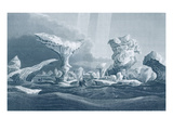 Boats in a Swell Amongst Ice, August 24, 1826 Giclee Print by George Back