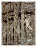 Sculptural Detail of the Left Jamb of the Entrance Facade, Built 1488-96 (Stone) Giclee Print by  Spanish