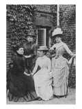 Jennie Jerome, Later Lady Randolph Churchill, with Her Mother and Sisters (B/W Photo) Giclee Print by  English Photographer