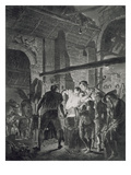 The Blacksmith's Shop, Engraved by Richard Earlom (1743-1822), 1771 (Mezzotint) Giclee Print by Joseph Wright Of Derby