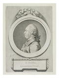 Portrait Study of George Stubbs (1724-1806) (Soft-Ground Etching and Engraving) (See 213891) Giclee Print by Pierre-Etienne Falconet