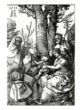 The Holy Family with St. Anne and St. Joachim, 1511 (Woodcut) Giclée-Druck von Albrecht Dürer