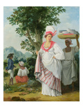 Free West Indian Dominicans, c.1770 Giclee Print by Agostino Brunias