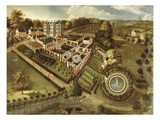The House and Garden of Llanerch Hall, Denbighshire, c.1662-72 Giclee Print by  English