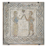 A Young Girl Offers a Rose to Her Beloved, 1213 (Mosaic) Giclee Print by  Byzantine