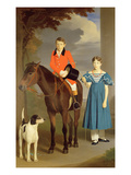 John Gubbins Newton and His Sister Mary, 1832-33 Giclee Print by Robert Burnard