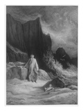 The Finding of King Arthur, Illustration from 'Idylls of the King' by Alfred Tennyson (Engraving) Giclee Print by Gustave Doré