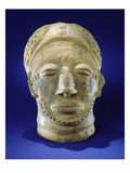 Asante Funerary Mask, from Ghana (Ceramic) (See also 228652 and 228654) Giclee Print by  African
