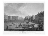 Hanover Square, from a Set of Four Views of London Squares, Engraved by Robert Pollard (1755-1838) Giclee Print by Edward Dayes