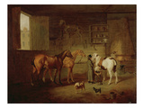 The Blacksmith&#39;s Shop, C.1810-20 (Oil on Canvas) Giclee Print by Henry Bernard Chalon