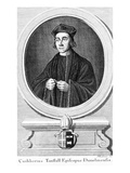 Cuthbert Tunstall, Bishop of Durham (Engraving) Giclee Print by Paul Fourdrinier