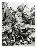 The Prodigal Son, 1496 (Engraving) Premium Giclee Print by Albrecht Dürer