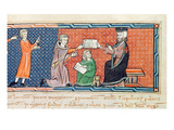 Guillaume Jaubert Taking an Oath before King James I (1207-76) of Majorca Giclee Print by  Spanish