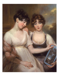 Portrait of Anne and Maria Russell, 1804 (Coloured Chalks and Pastel) Giclee Print by John Russell