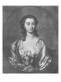 Portrait of Mrs Cibber (1714-66), Actress and Singer, Engraved by John Faber (1684-1756), 1746 Giclee Print by Thomas Hudson