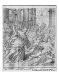 Life of Christ, Jesus Chasing the Merchants from the Temple Giclee Print by Henri Lerambert