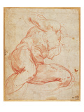 Study of a Nude (Red Chalk on Paper) Giclee Print by  Michelangelo Buonarroti