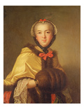 Portrait of Louis-Henriette De Bourbon-Conti, with Muffler (Oil on Canvas) Giclee Print by Jean-Marc Nattier