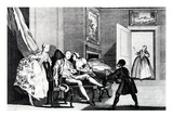 Stealing a Kiss, C,1743 (Engraving) Giclee Print by Francis Hayman