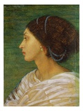 Head of a Mulatto Woman, 1861 (Oil on Paper Laid on Linen) Giclee Print by Joanna Boyce Wells