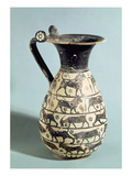 Corinthian Oinochoe Decorated with Lions, from Vulci, C.530-520 BC (Ceramic) Giclee Print by  Greek