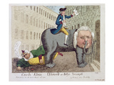 Carlo Khan Detron'D or Billy's Triumph, London, 24th March, 1784 (Colour Etching) Giclee Print by James Sayers