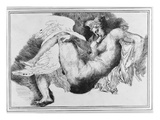 Leda, after a Drawing by Michelangelo Buonarroti (1475-1564) 1822 (Pen and Ink on Paper) Giclee Print by Théodore Géricault