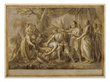 Achilles Lamenting the Death of Patroclus, 1760-63 (Pen and Ink and Wash on Paper) Giclee Print by Gavin Hamilton
