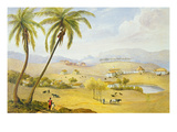 Haughton Court, Hanover, Jamaica, C.1820 (W/C on Paper) Giclee Print by James Hakewill