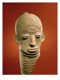 Asante Funerary Mask, from Ghana (Ceramic) Impression giclée par  African
