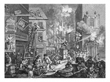 The Times, Plate I, 1762 (Engraving) Giclee Print by William Hogarth