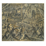 The Conquest of Constantinople by the Venetians in the Year 1204, 1598-1605 Giclée-tryk af Domenico Tintoretto