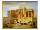 The Erechtheum, Athens, with Figures in the Foreground, 1821 Giclee Print by Sir Charles Lock Eastlake