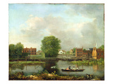 A River Landscape, Possibly a View from the West End of Rochester Bridge, 1800-10 (Oil on Canvas) Giclee Print by John Inigo Richards