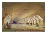 Baker Street Station, 1863 (W/C and Bodycolour with Pen and Ink on Paper) Giclee Print by Samuel John Hodson