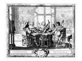 The Music Ensemble with a Lute (Engraving) (B/W Photo) Giclee Print by Abraham Bosse