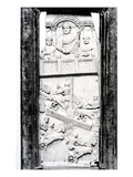 Leaf from the Lampadii Diptych, C.355 Ad (Ivory) (B/W Photo) Giclee Print by  Roman