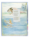 Design 10 for 'Ode on the Death of a Favourite Cat' from 'The Poems of Thomas Gray' Giclee Print by William Blake