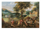 Cincinnatus Receiving the Deputies of Rome (Oil on Canvas) Giclee Print by  Belgian