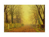 Evening Glow, c.1884 Giclee Print by John Atkinson Grimshaw