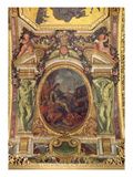 Re-Establishment of Navigation Rights in 1663, Ceiling Painting from the Galerie Des Glaces Giclee Print by Charles Le Brun