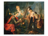 Frederick the Great Creating the League of Princes (Oil on Panel) Giclee Print by Christian Bernhard Rode